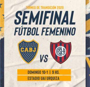 Dia y Horario de la Semifinal Boca vs San Lorenzo
