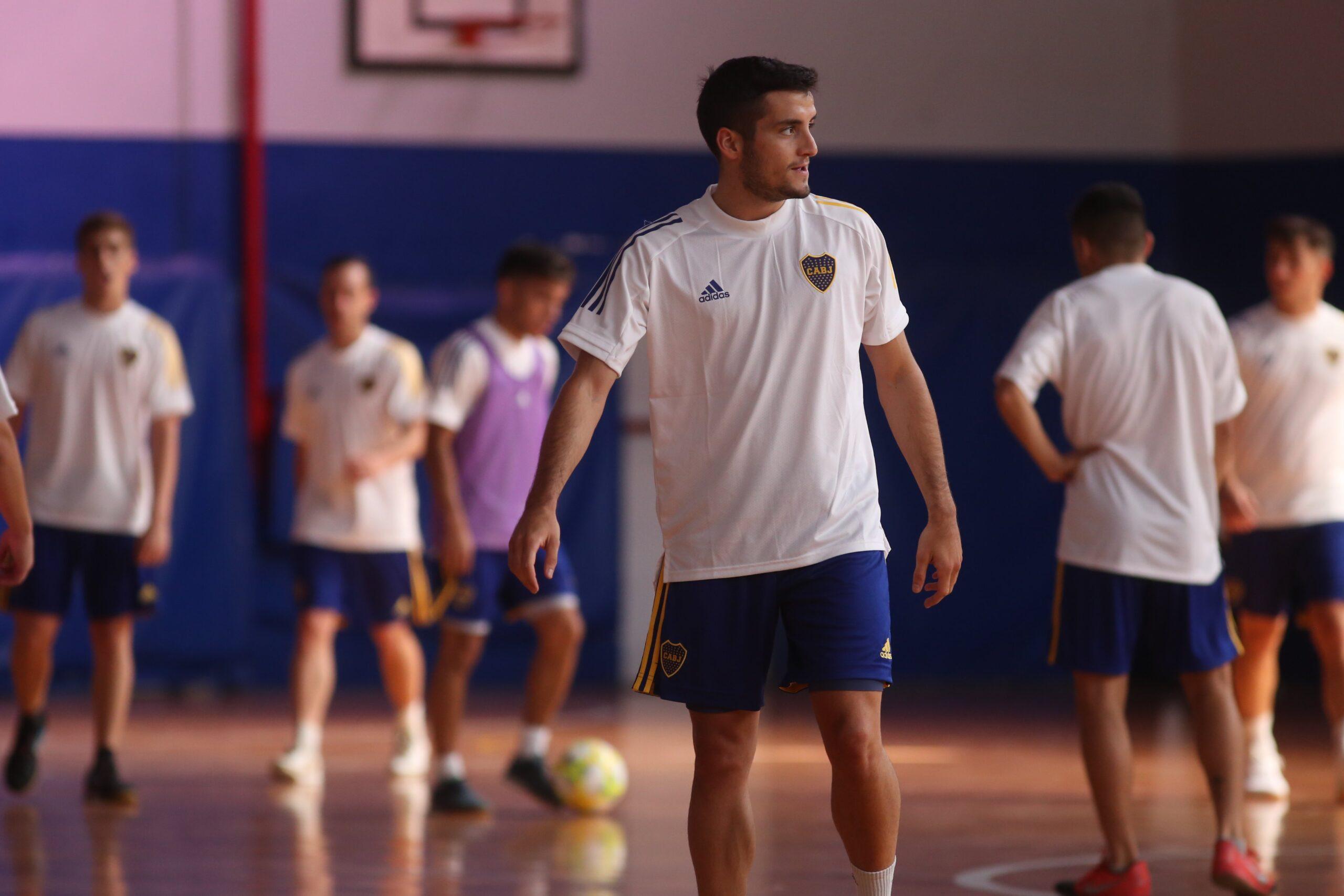 el futsal de Boca retorno a los entrenamientos luego de ganar el torneo de futsal afa