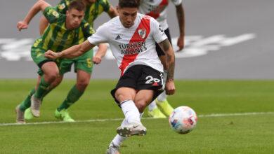 Gol de Montiel en el 4-1. Foto: @RiverPlate