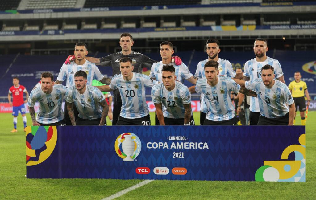 La Selección Argentina previo al partido frente a Chile. Foto: @AFAMedia
