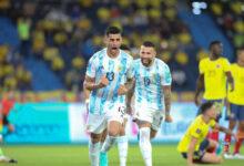 """Cuti"" Romero festejando su gol. Foto: @AFAMedia"